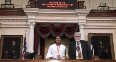 Jariah Cole (TX State 2018 House Speaker) with Speaker of Texas House of Representatives